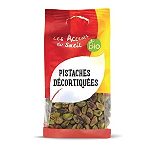 Organic shelled Pistachios Nuts - Pistachios Kernel Without Salt - Raw Pistachio husked Ideal dor Dessert & Pastries | 100g | Les Accents du Soleil
