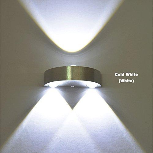 3W führte Innenwand-Lampe nagelneues Ac110V / 220V Schlafzimmer verzieren Wandleuchter kaltes weißes / warmes Weiß / Gelb-romantisches geführtes Wand-Licht, gelbes Licht