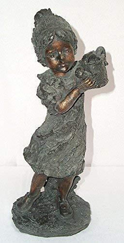 Figurine de jardin fille Liesa avec arrosoir, Fontaine, jeune fille de fleur