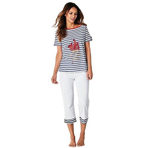 65156a03d Pijama camiseta de escote barco con vivo a contraste by VencaStyle,RAYAS  ROJO/BLANCO