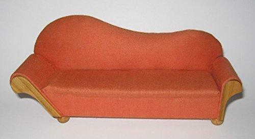 Liebe 46014 FATTO A MANO Sofa Imbottito rosso, Ciliegia 1:12 per casa delle bambole 704