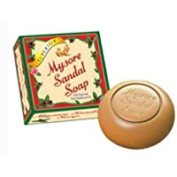 Mysore Ayurvedic Sandal Soap (SUPERIOR): Only soap with pure sandalwood oil, used by Celebs, Royal, Top Hotel in India 150g