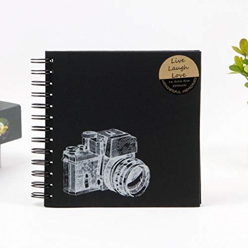 XKLVN álbum de Fotos Cámara Álbum de FotosPapelDIYCartón Negro Álbum de Fotos Personalidad Cubierta de Papel Especial Álbum de graduación
