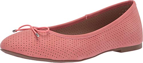 Esprit Women's Orly Closed Round Toe Slip-On Perforated Bow Ballet Flat - Womens Casual Ballet Flat