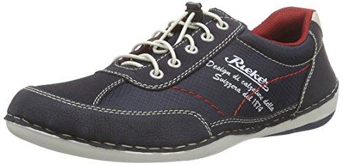 Rieker B9213 Sneakers-Men, Sneaker Basse Uomo Blu (Blau (ozean/navy/navy/chalk / 16))