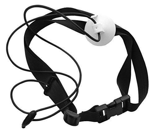 Sport-Thieme Schwimmtrainer | Innovatives Aqua-Zugband mit starkem Vakuum-Sauger, Abziehlasche, Beckengurt, | Mobil, Bequem, Sicher | Schwarz-Weiß | Markenqualität