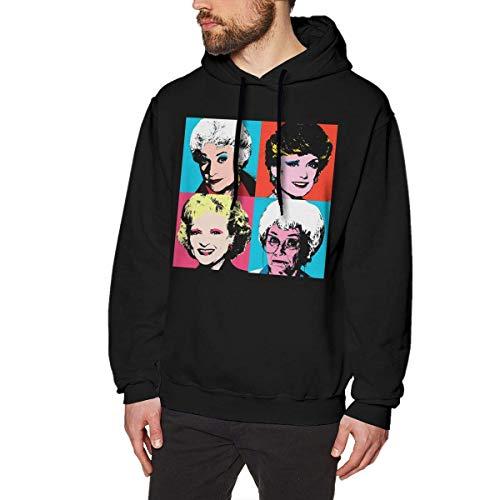 Golden Warhol Girls Mens Long Sleeve Sweatshirts Mans Hoodies Black Star Zip Youth Sweatshirt