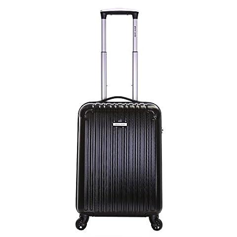Pierre Cardin Orbis 55cm hart 4 Rädern Kabine Koffer, Schwarz