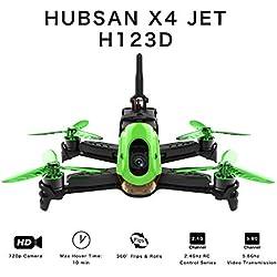 Hubsan H123D X4 Jet Racer Brushless Drone 720P Caméra 5.8GHz FPV 2.4Ghz RC Quadricoptère avec Émetteur HT012D