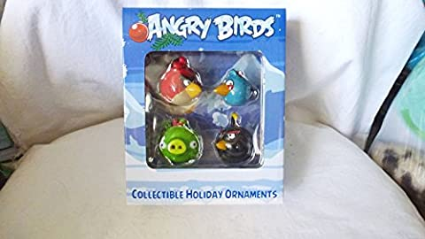 Angry Birds Collectible Holiday Ornaments - Set of 4