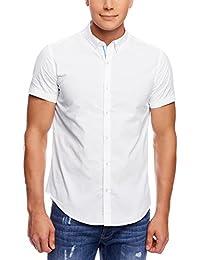 oodji Ultra Hombre Camisa Entallada de Tejido Texturizado
