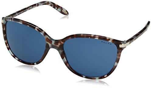 Ralph 0ra5160 169280, occhiali da sole donna, blu (bluette tortoise/blueesolid), 57