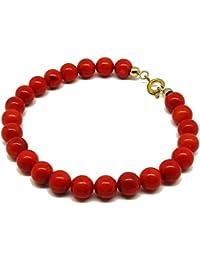 adae1674f646 Amazon.es  Pulseras rojas - El coral   Pulseras   Bisutería barata ...