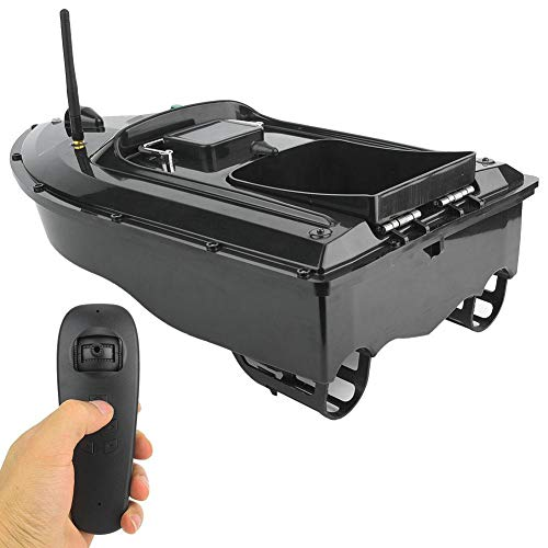 Fishing Bait Boat, 110-240V 500M Waterproof Multifunctional Wireless Remote Control Ship Speedboat Fish Finder RC Electric Boat with Folding Strengthen Signal Antenna Good Gifts for Men Adults (UK)