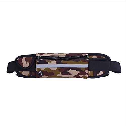 KANG@ Sport Taille Pack Multifunktions Running Männer und Frauen Outdoor Handy Tasche Anti-Diebstahl intime Stealth wasserdicht Beutel Wasserdichte camouflage