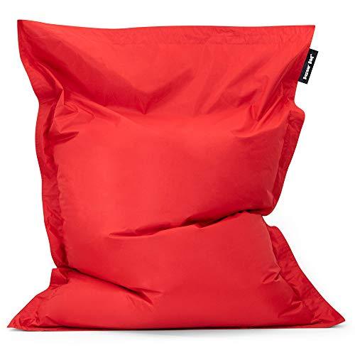 Bean Bag Bazaar Bazaar Bag - Rojo, 180cm x 140cm, Puf Gigante para Int