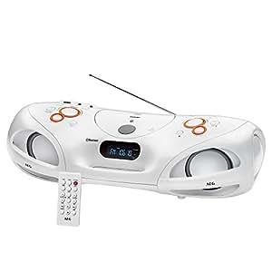 AEG SR 4371 BT Stereoradio-Soundbox (CD, Bluetooth, USB, MP3, AUX) weiß