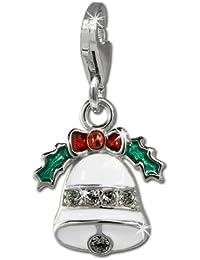 SilberDream Charm Weihnachtsglocke 925 Sterling Silber Charms Anhänger für Armband Kette Ohrring FC848W