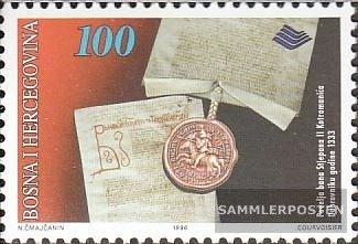 Prophila Bosnien-Herzegowina 58 (kompl.Ausg.) 1996 Geschichte Bosnien+Herzegowina (Briefmarken für Sammler)