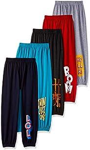 ESNINO Boys' Regular Fit Trackpant (Pack o