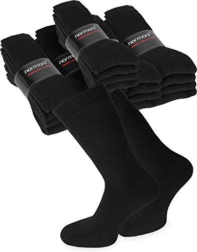 normani 4, 8, 12, 16 oder 20 Paar Arbeits- und Sportsocken aus Baumwolle Gr. 35-50 Farbe 20 Paar Schwarz Größe 47/50