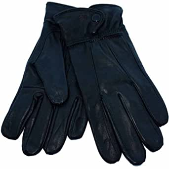 Ladies Thermal Lined Soft Leather Warm Winter Gloves S/M Brown