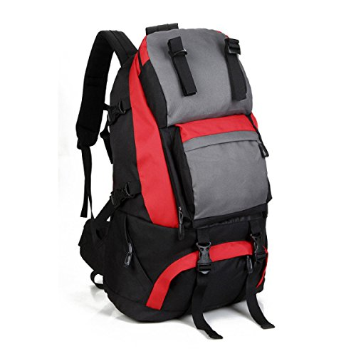 Outdoor Zaino Oxford Stoffa Ad Alta Capacità Alpinismo Corsa Zaino Red