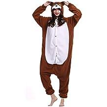 Kigurumi Pijama Animal Entero Unisex para Adultos con Capucha Cosplay Pyjamas Ardillas Ropa de Dormir Traje
