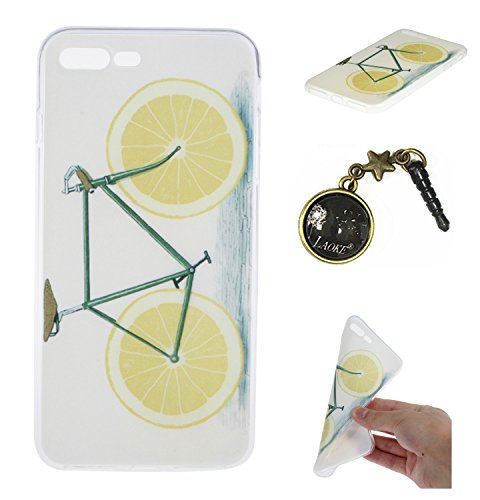 TPU für Apple iPhone 7 Plus (5.5 Zoll) PC Hardcover BackCover Hülle Carving Relief Schutzhülle Mode Fashion Design Pattern Ultra Slim TPU Silikon für Apple iPhone 7 Plus (5.5 Zoll) +Staubstecker (6MM) 9