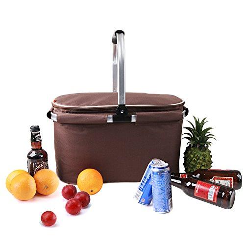 Yodo-22L-collapsile-Cooler-Bag--Cesta-de-picnic-con-aislamiento-hasta-4-horas--Idea-para-Camping-fiesta-concierto-o-eventos-deportivos-marrn