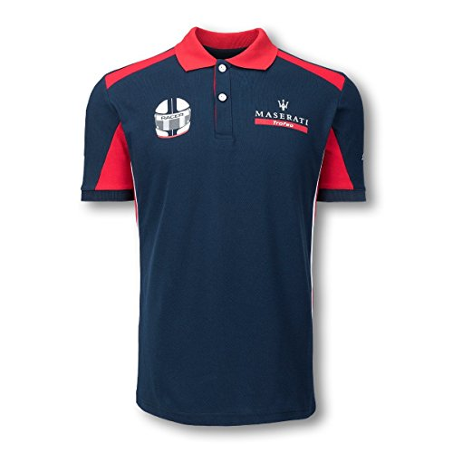 trophee-maserati-gt4-racing-officielle-world-series-polo-pour-homme-100-coton-bleu-marine-rouge-mens