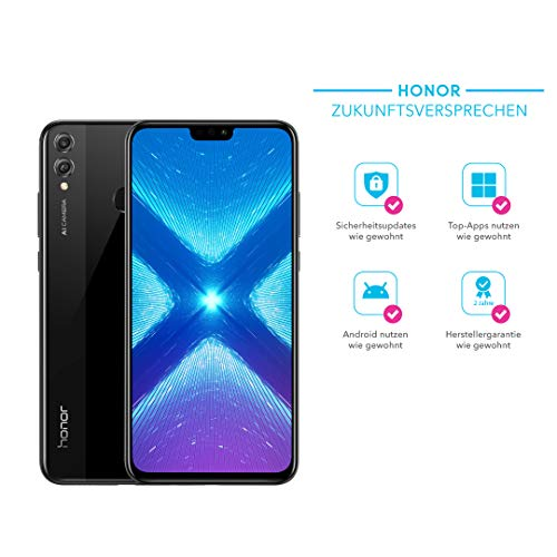 Honor 8X Smartphone BUNDLE (16,5 cm (6,5 Zoll), Dual-Kamera, Dual-SIM, Android 8.1) + gratis Honor Flip Protective Cover [Exklusiv bei Amazon] - Deutsche Version