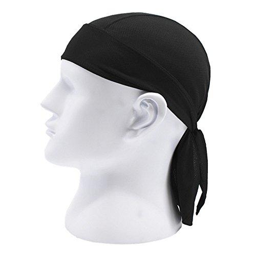 Hippolo Reiten Outdoor Sport Mütze Schal atmungsaktive Schnelle Sonne Sonne Piratenhut Motorrad Kopfbedeckung(Alle Code) (Schwarz)
