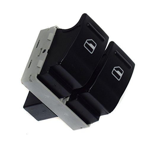 Nouveau commutateur de vitre électrique côté passager Fonction de bouton poussoir Interrupteur électrique 7e0959855 pour VWS Transporter T5 T6 2005 06 07 08 09 10 11 12 13 14