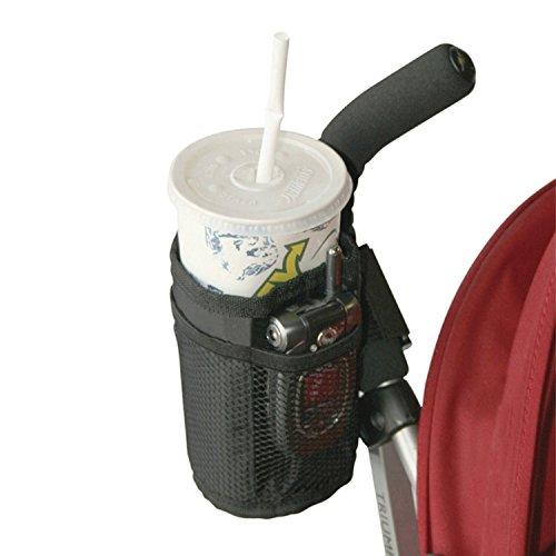 zanasta Faltbarer Getränkehalter Kinderwagen Buggy Fahrrad für Babyflaschen, Getränkeflaschen, Kaffetassen, Becher   Schwarz