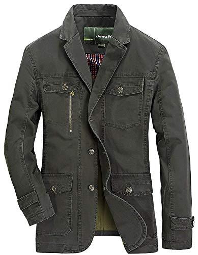 Herren Sakko Slim Fit Blazer Mantel Baumwolle Jacke Freizeit Sakko Männer  Kleidung Casual Nner. daf5f280fb