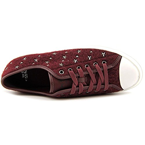 Coach Empire Star Femmes Toile Baskets Burgundy-Burgundy