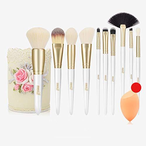AA-SS-Makeup Brush Pinceaux de Maquillage, végétaliens synthétiques Professionnels de Maquillage de Base Fard à Joues de Fard à paupières Fard à paupières Maquillage de Base avec Le Sac cosmétique