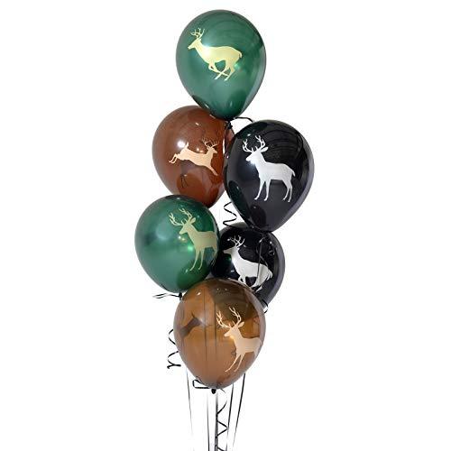er Ballons, große 30,5cm Latex Luftballons auf beiden Seiten bedruckt, 3Farbe, 6Stück) Next Camo Party Kollektion by havercamp ()