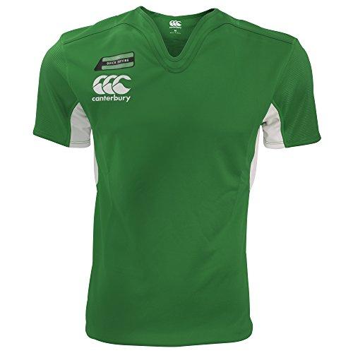 Canterbury Challenge - Maglietta Sportiva Manica Corta Rugby - Uomo Blu Navy/Rosso