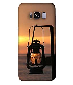 PrintVisa Designer Back Case Cover for Samsung Galaxy S8 Edge (Source of Light Blow colourful golden yellow)