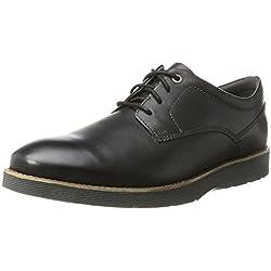 Clarks Folcroft Plain, Derby para Hombre, Negro (Black Leather), 43 EU