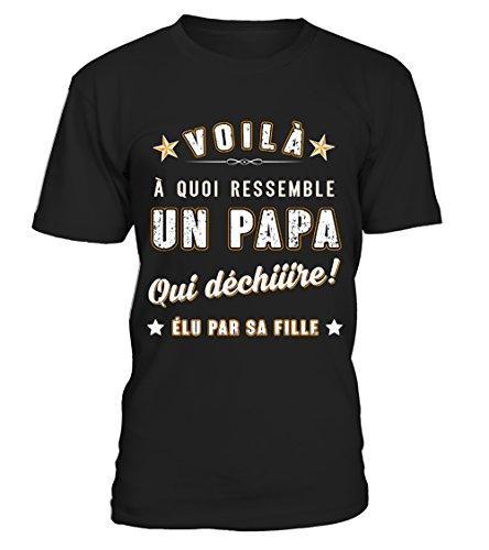 T-Shirts Homme Humour - Papa Qui Déchire - Élu...