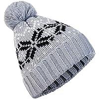Tapa del Turbante Punto Invierno Yesmile ���� Hombres Mujeres Baggy Hat Crochet Caliente Tejido de Lana de Invierno Sombrero de esquí Beanie