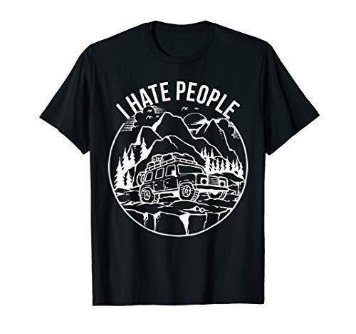Ich hasse Menschen Shirt Camping Shirt Zelten Camper Wandern T-Shirt