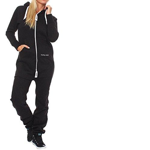 Drying jumper combinaison pour femme jogging combinaison combinaison de survêtement Noir - Noir