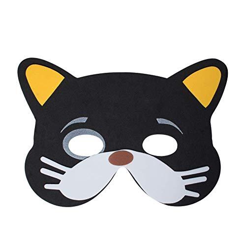 Werbewas 1x Schaumstoff Masken mit Katze groß Tiermotiv -