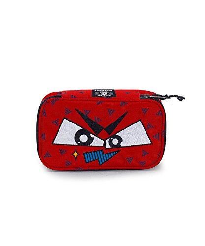 Portapenne invicta - quick case face - fiesta red rosso - astuccio porta penne attrezzato