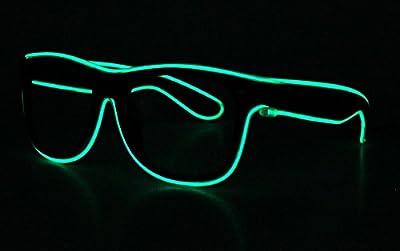 LED EL Draht Brille