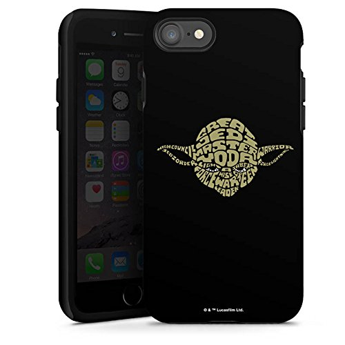 Apple iPhone 4s Hülle Premium Case Cover Star Wars Merchandise Fanartikel Yoda Typo Tough Case glänzend